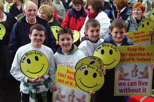 Precious Life Rally Stormont Belfast 18 October 2008
