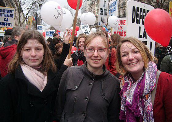 katie at paris march for life